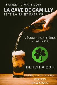Samedi 17 Mars 2018 C'est la Saint Patrick à la Cave de Gamilly. Venz déguster Whiskies et bières ;o))